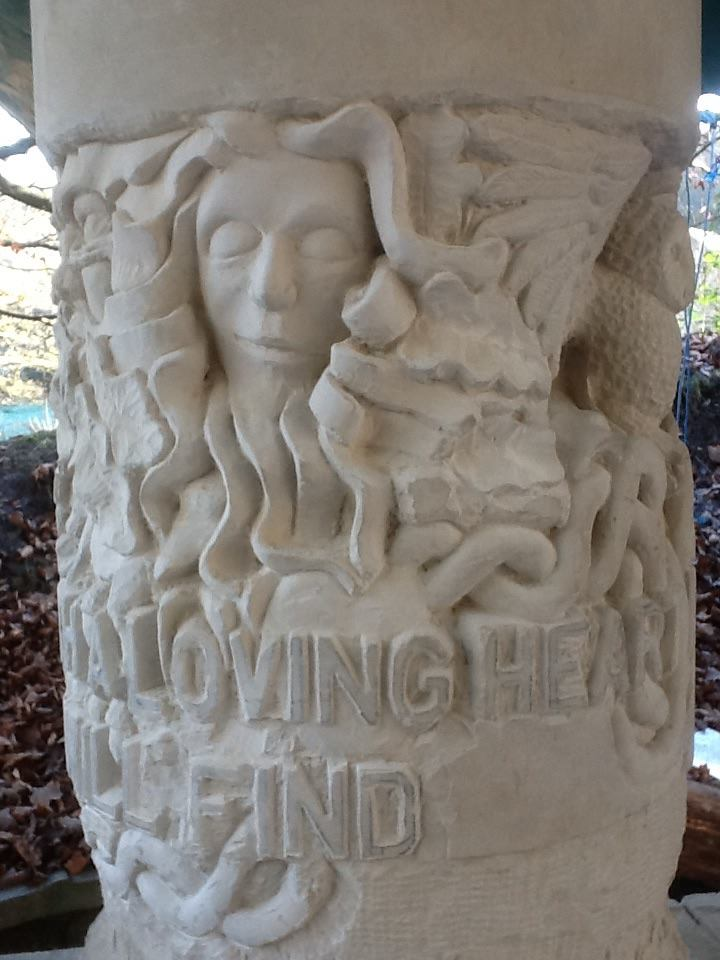 Stone carving work in progress